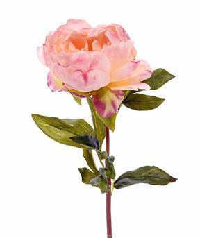 Konstgjord blomma Pionrosa 55 cm
