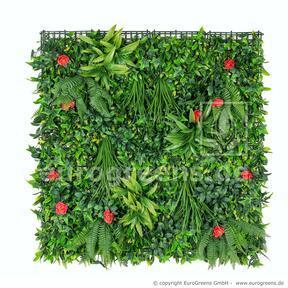 Konstgjord blomsterpanel - 100x100cm
