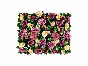 Konstgjord blomsterpanel Rose and Hydrangea - 40x60 cm