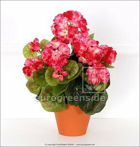 Konstgjord bukett Geranium ljusrosa 40 cm