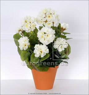 Konstgjord bukett Geranium vit 40 cm