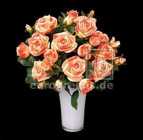 Konstgjord bukett Rosa rosa-aprikos 50 cm