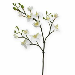 Konstgjord gren av orkidévit 60 cm