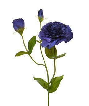 Konstgjord gren Eustoma blå 80 cm