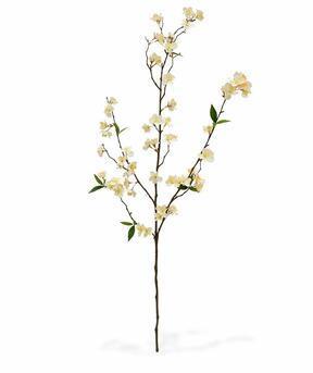 Konstgjord gren Grädkörsbär 120 cm
