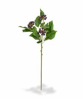 Konstgjord gren Holly holly räfflad blå 60 cm