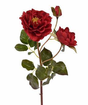 Konstgjord gren Röd ros 50 cm