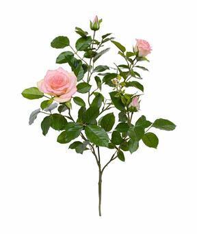 Konstgjord gren Rosa ros 70 cm