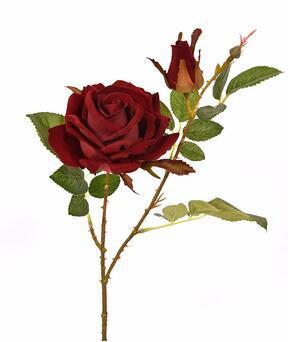 Konstgjord gren Rose burgundy 60 cm