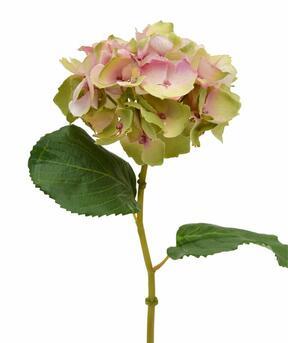 Konstgjord hortensia blomma rosa 45 cm