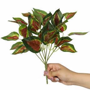 Konstgjord växt Basilika röd 25 cm