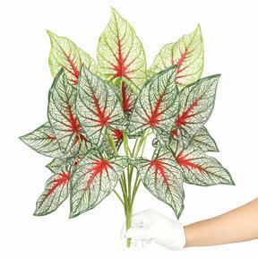 Konstgjord växt Calladium mångfärgad 50 cm