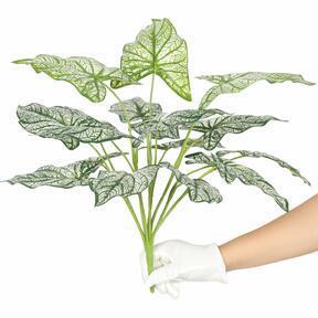 Konstgjord växt Calladium tvåfärgad 50 cm