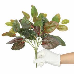 Konstgjord växt Fitonia röd 25 cm