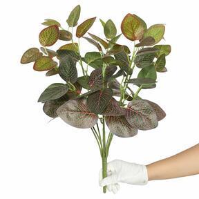 Konstgjord växt Fitonia röd 45 cm