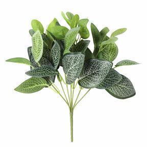 Konstgjord växt Fitónia vit 25 cm