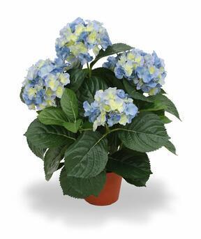 Konstgjord växt Hortensia blå 45 cm