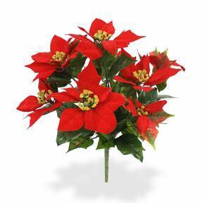 Konstgjord växt Julros röd 40 cm