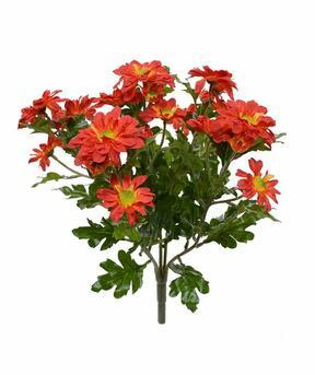 Konstgjord växt Krysantemum apelsin 35 cm