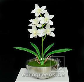 Konstgjord växt Orchidea Cymbidium grädde 50 cm