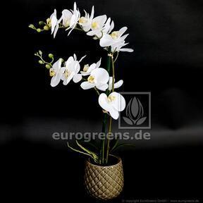 Konstgjord växt Orkidé vit 65 cm