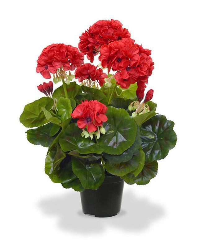 Konstgjord växt Pakost röd 40 cm