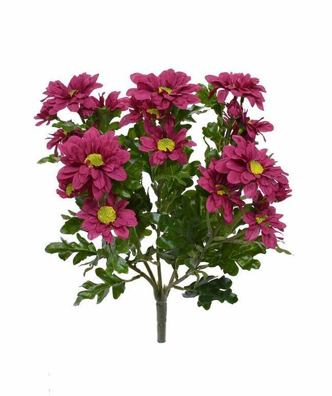Konstgjord växt Röd-vinröd krysantemum 35 cm