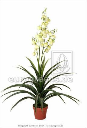 Konstgjord växt Yucca vacker 125 cm